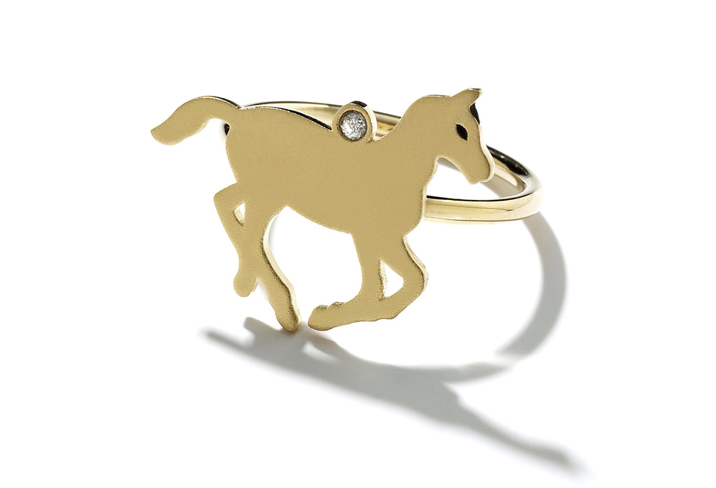 """Galaxie"" Gold Pony Ring"