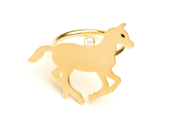 Gold Pony Ring
