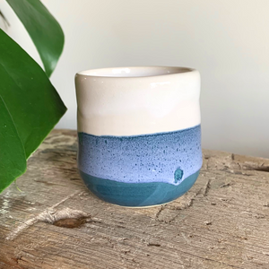 SALE - Small Cup - Blue/White #1/1