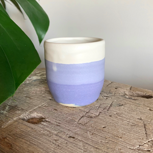SALE - Small Cup - Violet/Cream #1/3