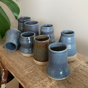 SALE - Bud Vase - Blue Speckle #4/3
