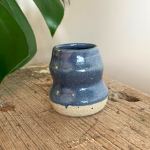 Load image into Gallery viewer, SALE - Bud Vase - Blue Speckle #4/3