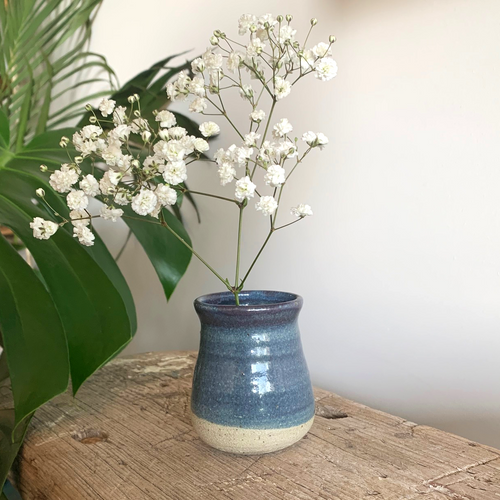SALE - Bud Vase - Blue Speckle #4/1