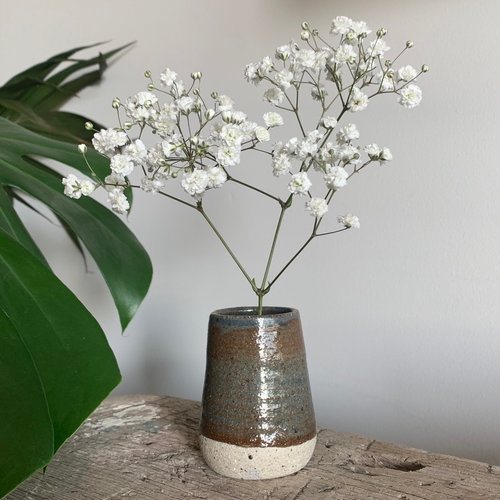 SALE - Bud Vase - Smoky Hickory #4/4