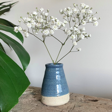 Load image into Gallery viewer, SALE - Bud Vase - Blue Speckle #4/7