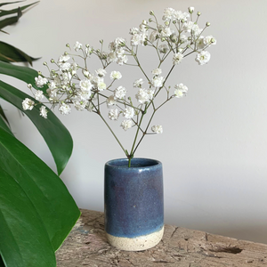 SALE - Bud Vase - Blue Speckle #4/8