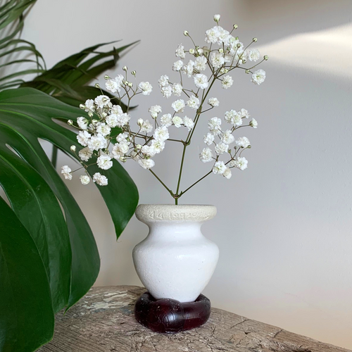SALE - Bud Vase/Butt Plug - White #8/4