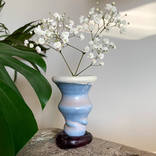 Load image into Gallery viewer, SALE - Bud Vase/Butt Plug - Blue Swirl #8/5
