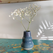 Load image into Gallery viewer, SALE - Bud Vase - Blue Speckle #4/10