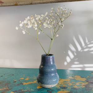 SALE - Bud Vase - Blue Speckle #4/10