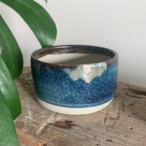 SALE - Planter - Blue Speckle #10/12