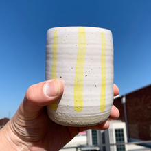 Load image into Gallery viewer, Tall Cup - Yellow Stripes