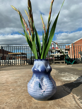 Load image into Gallery viewer, XX-Large Anemone Vase - Sea Blue with Gold Kintsugi Detail