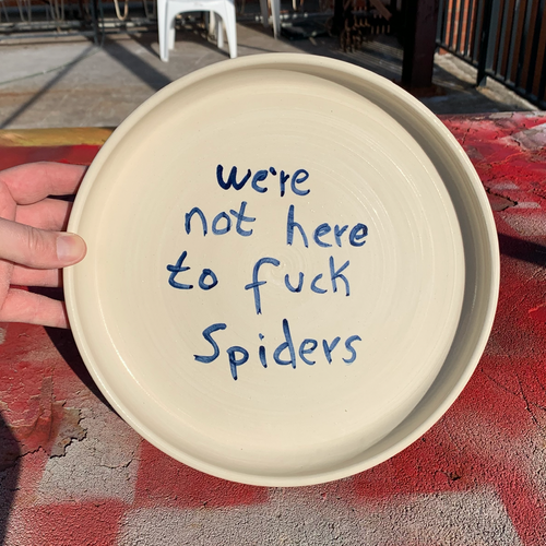 Dinner Plate 27cm - We're Not Here To F*ck Spiders