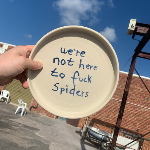 Cafe Plate 24cm - We're Not Here To F*ck Spiders