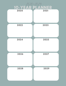 2020 Printable Planning Pages