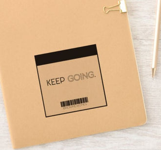 Keep Going Mirror Sticker