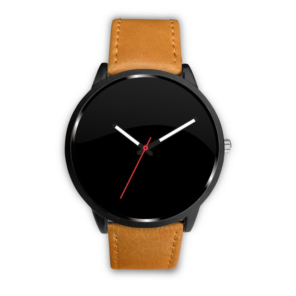 Your Watch With The Brown Leather Band