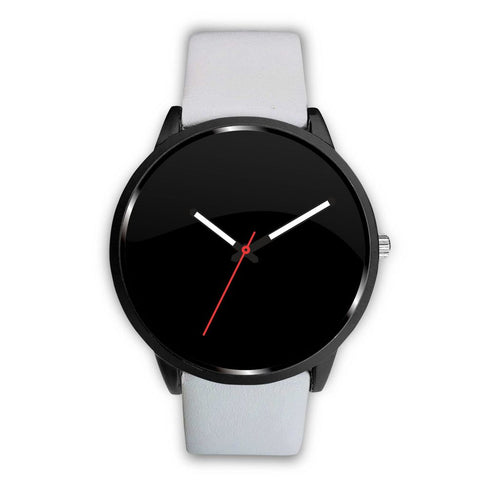 Your Watch With The White Leather Band