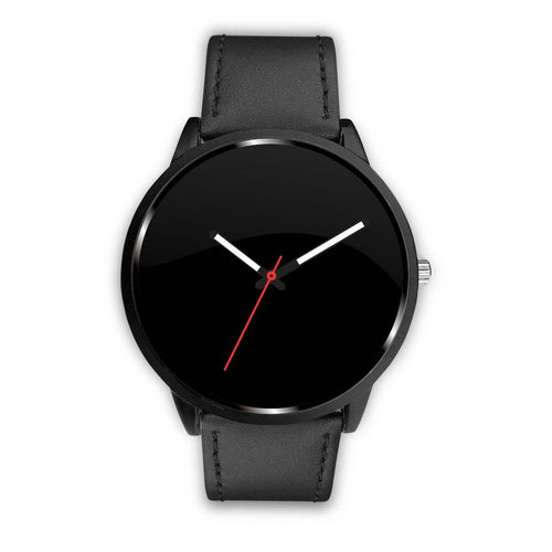 Your Watch With The Black Leather Band