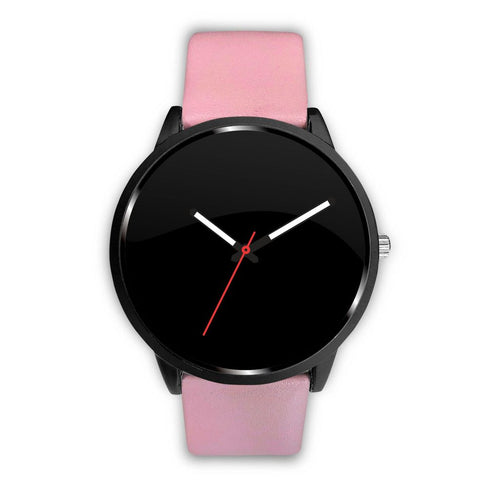 Your Watch With The Pink Leather Band