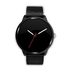 Your Watch With The Black Metal Mesh Band