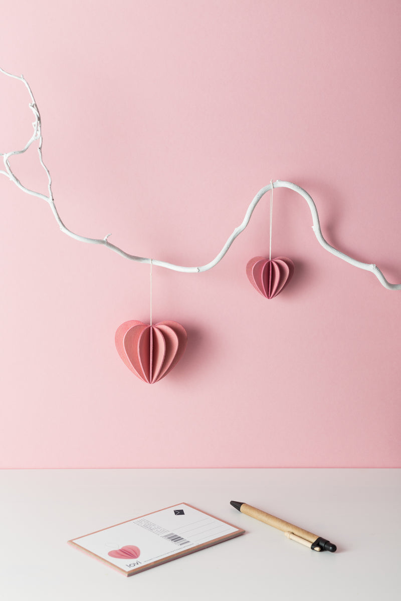 lovi heart 3d decoration pink