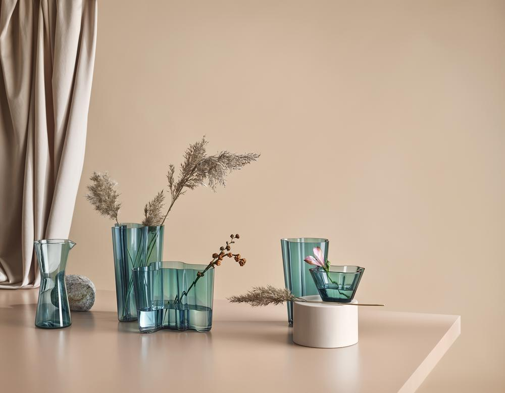 Iittala Alvar Aalto Collection New Sea Blue Color