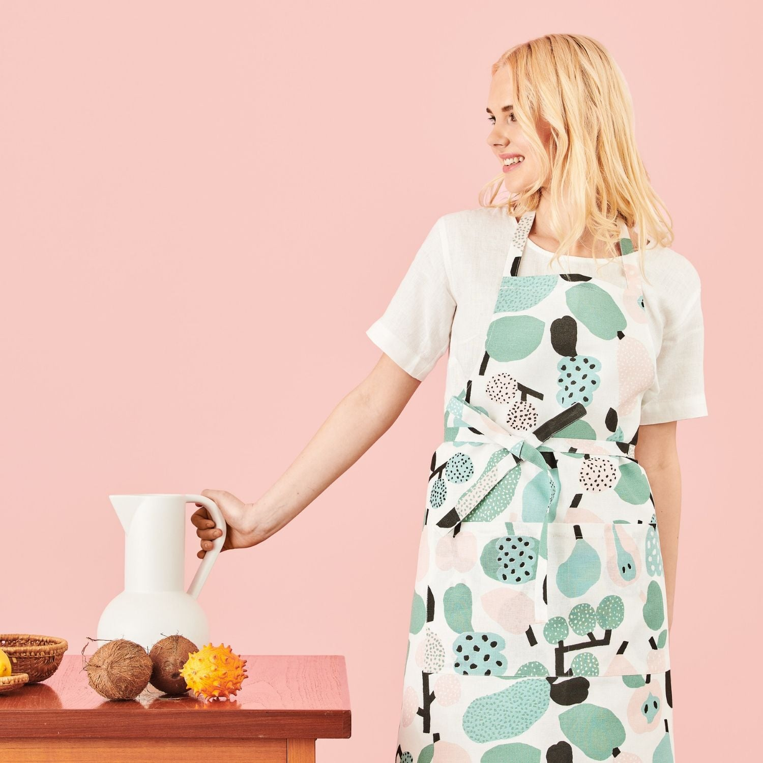 Kauniste TUTTI FRUTTI Apron Light Green