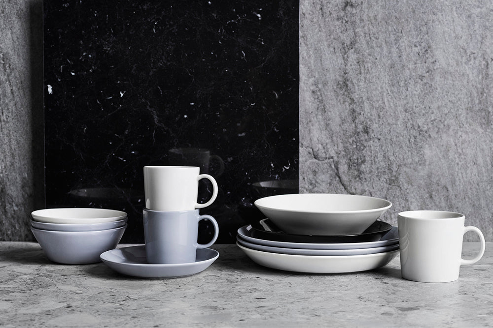 iittala teema collection white & pearl grey