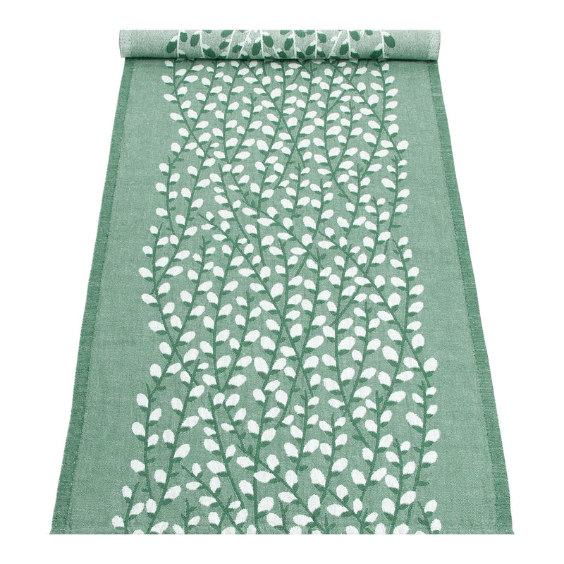 "Lapuan Kankurit VARPU Table Runner (19""x59"") white-aspen green"