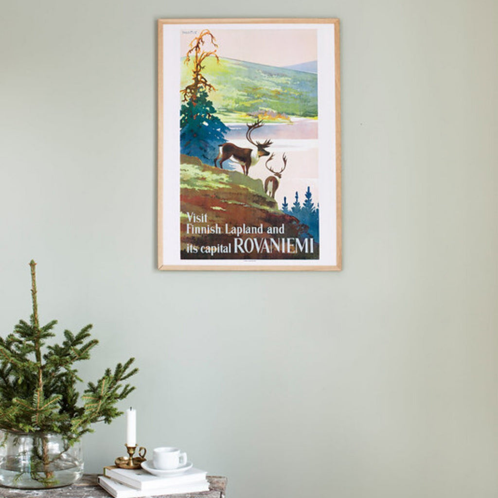 Come to Finland VISIT FINNISH LAPLAND vintage poster