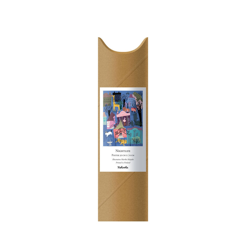 Kehvola NIGHTLIFE print tube