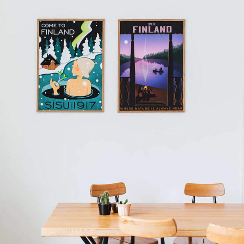 Come to Finland travel posters