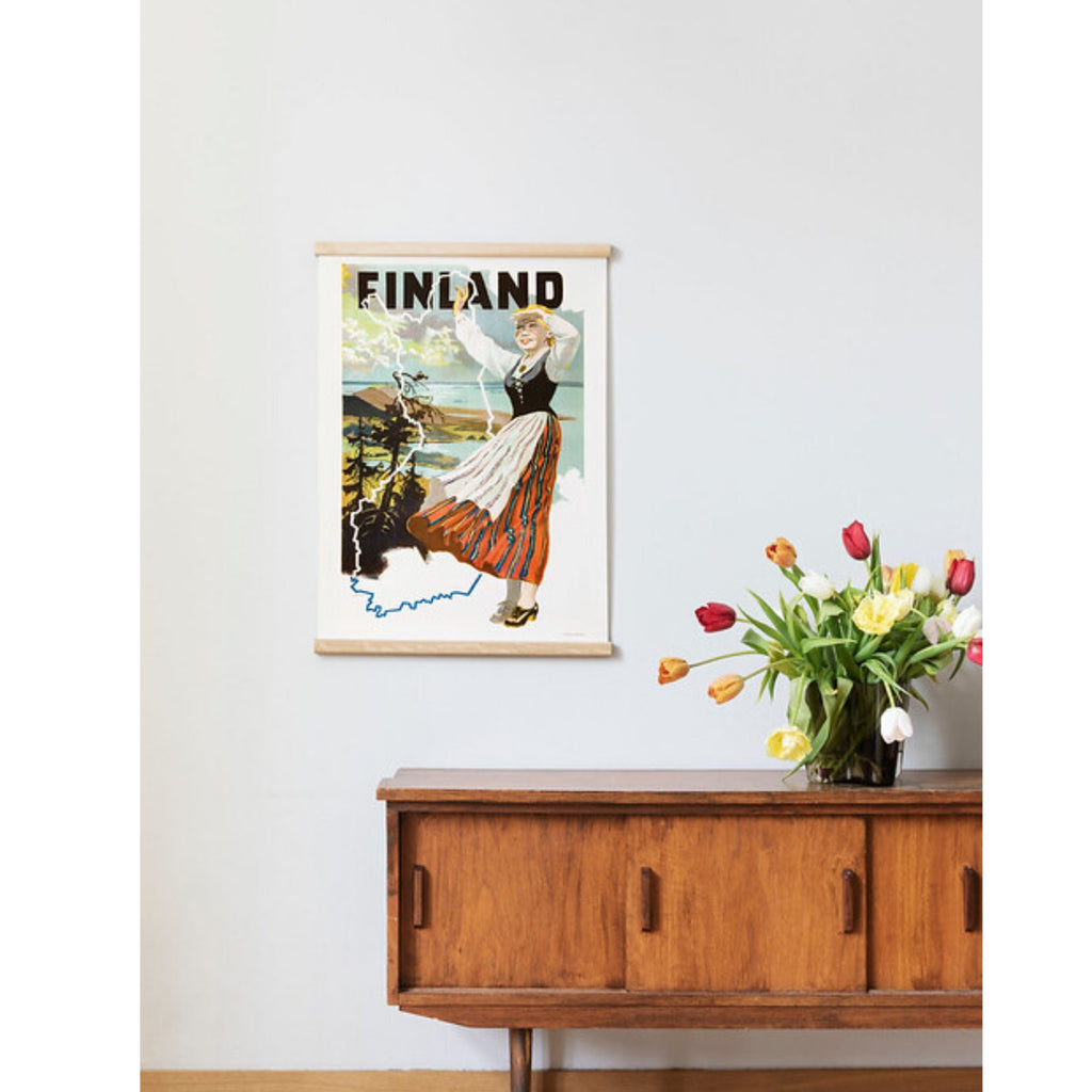 Come to Finland MAIDEN OF FINLAND in Koli vintage print