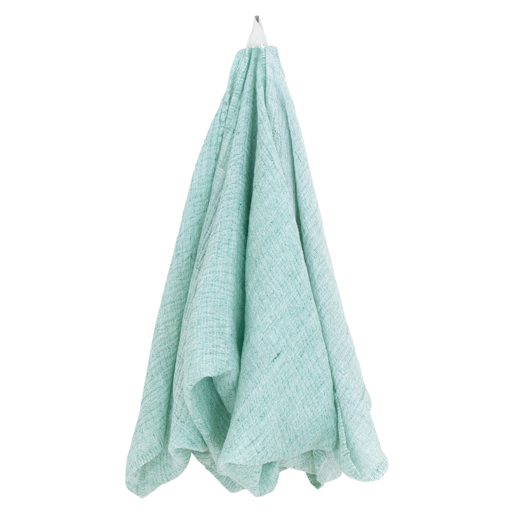 "Lapuan Kankurit NYYTTI Bath Sheet (37""x 71"") White -Green"