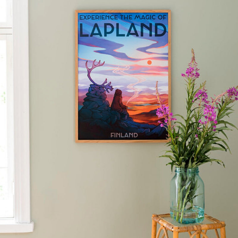 Come to Finland Magic of Lapland travel poster