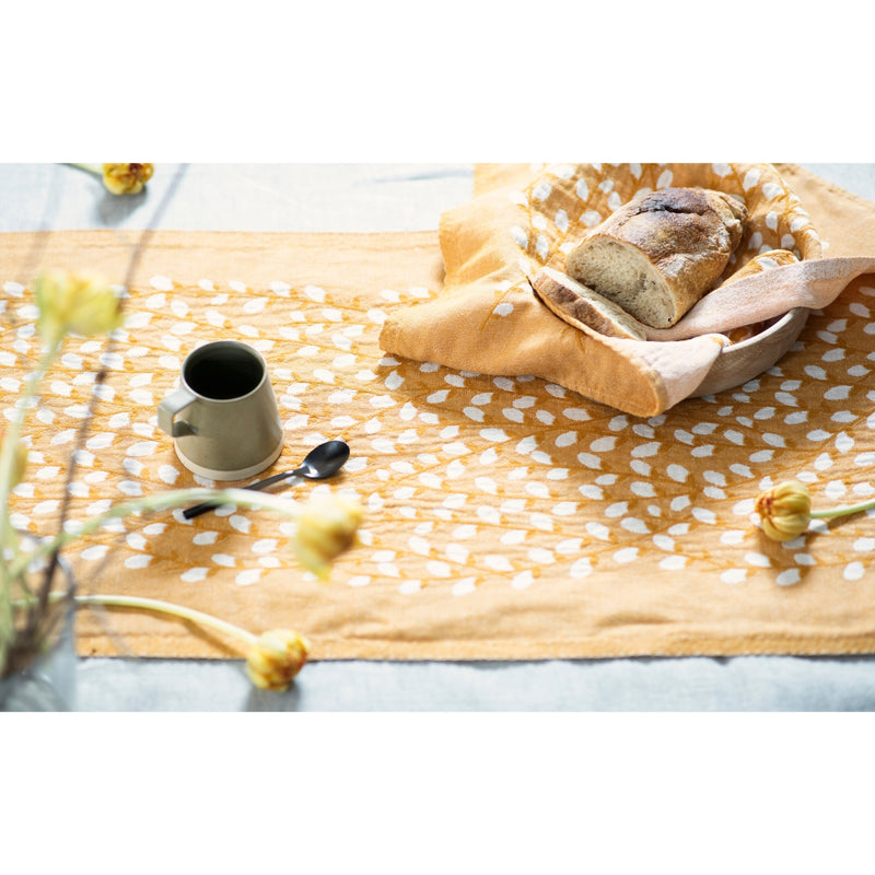 "Lapuan Kankurit VARPU Table Runner (19""x59"") white-cloudberry"