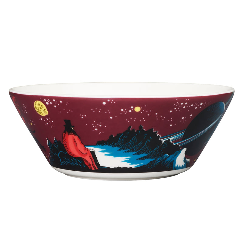 "Arabia MOOMIN purple HOBGOBLIN Bowl  6"" back"