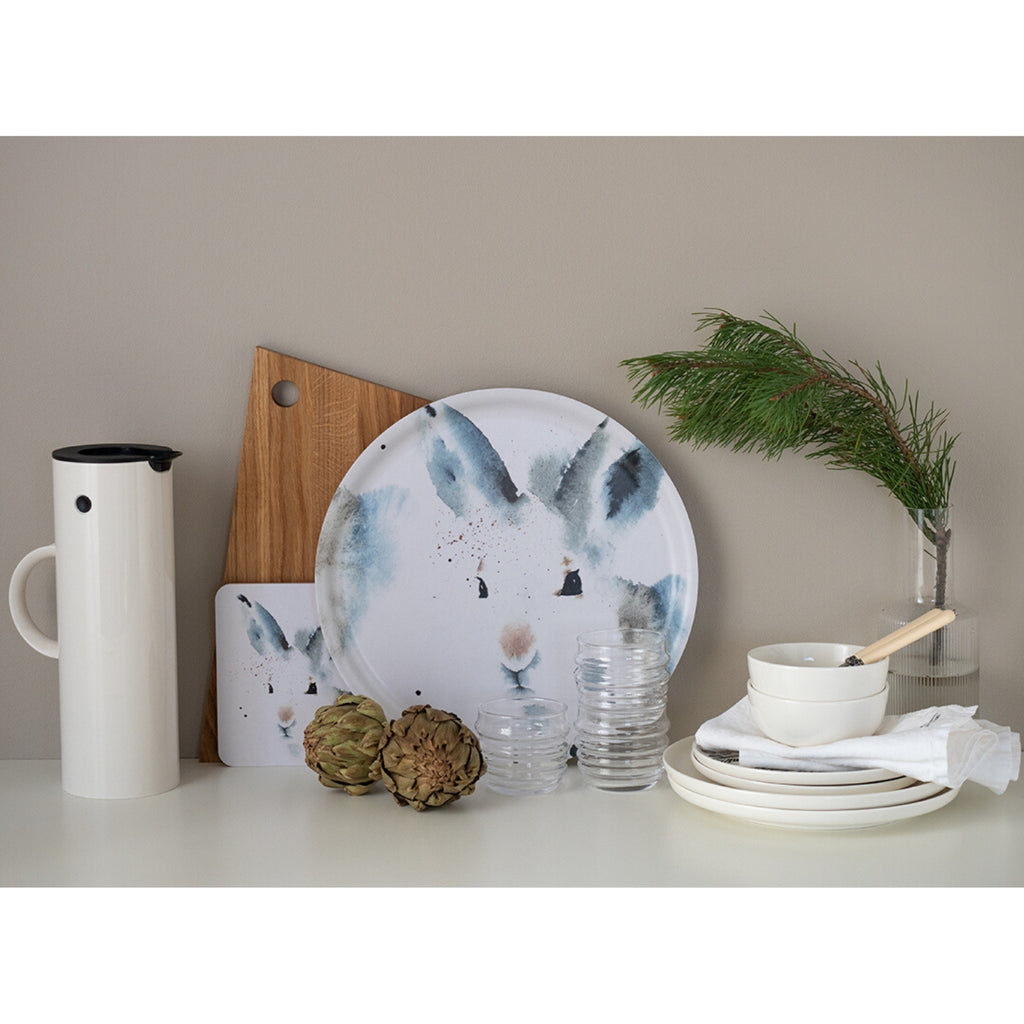 "Ester Visual WHITE HARE Tray (14"") white"