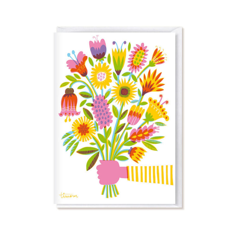 Kehvola KIMPPU folded postcard yellow