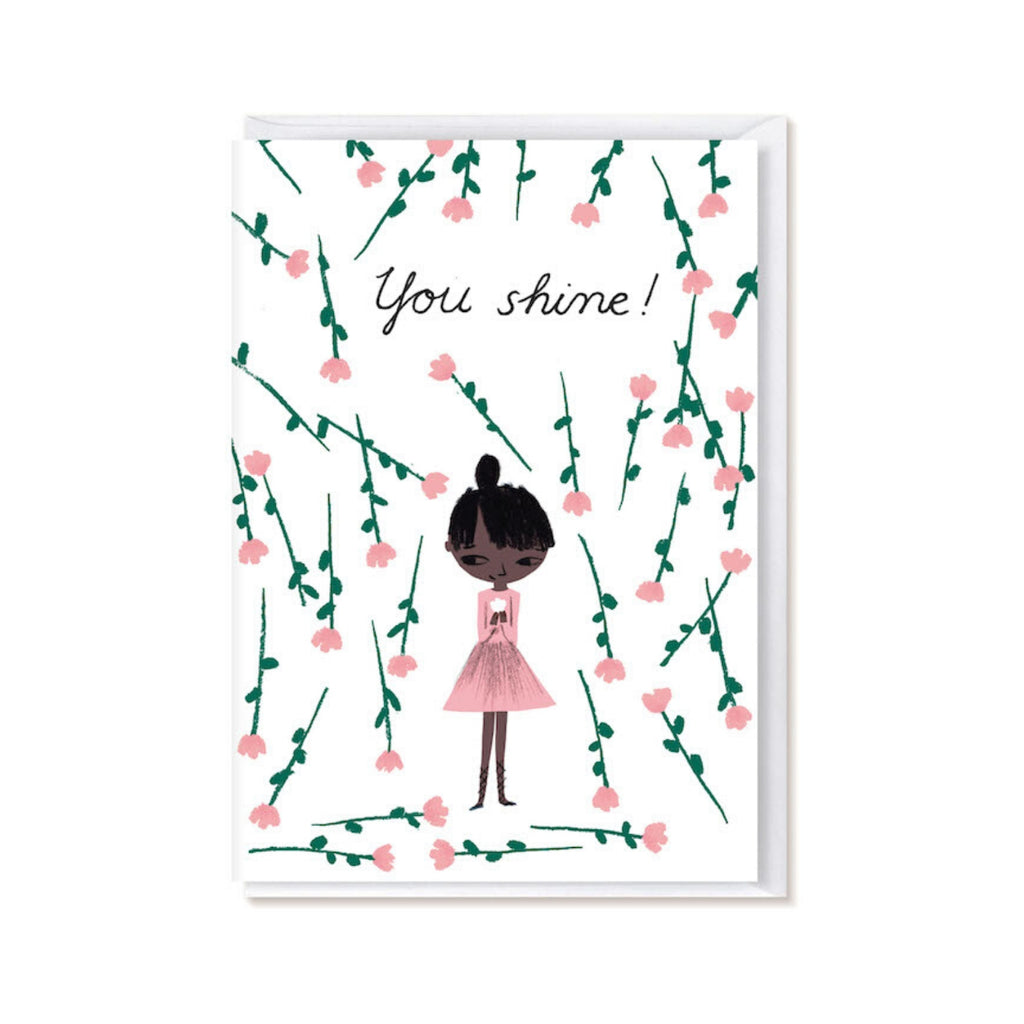 Kehvola YOU SHINE folded postcard pink