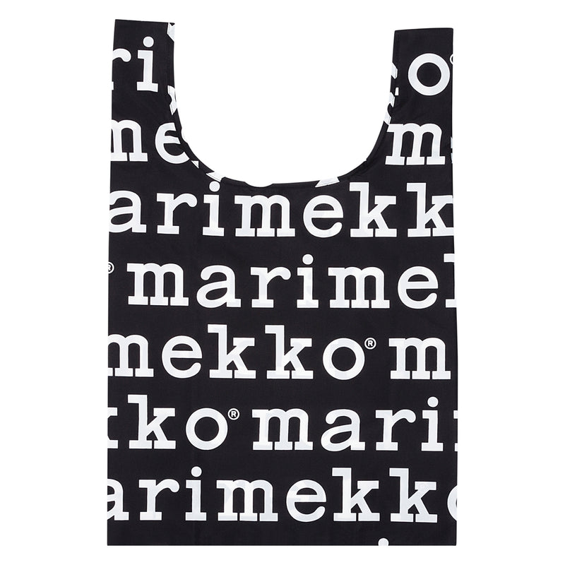 Marimekko LOGO Smart Bag in black and white