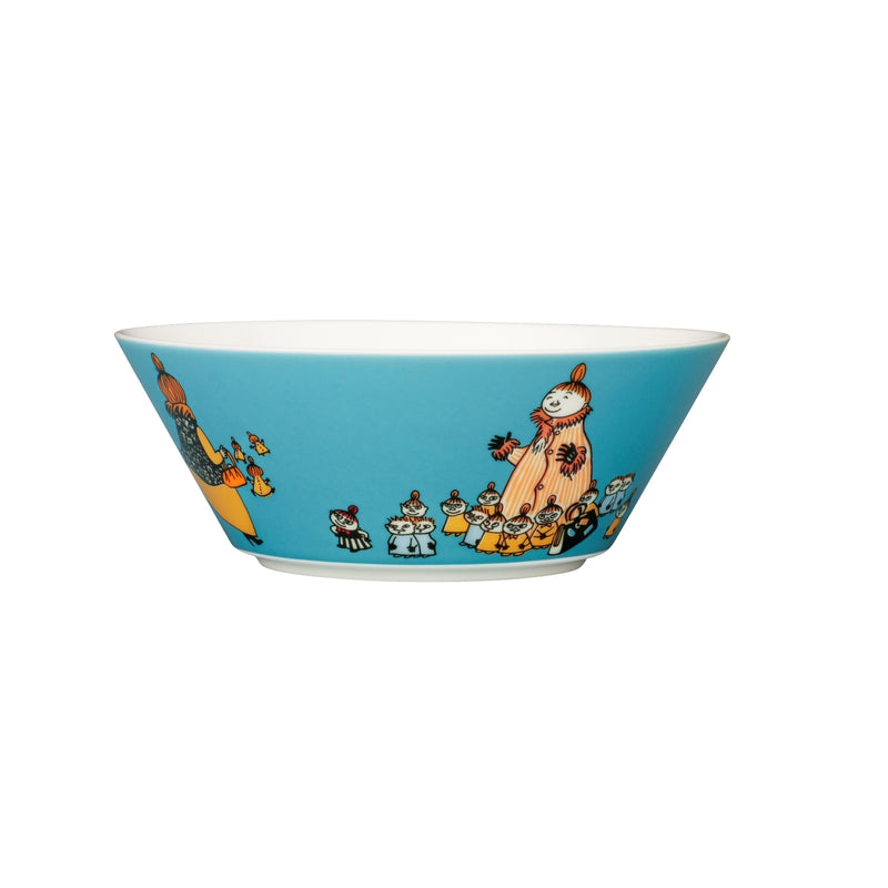 "Arabia MOOMIN teal MYMBLE'S MOTHER Bowl (6"")"