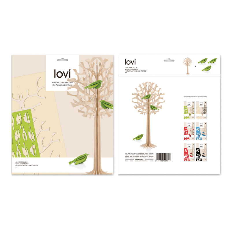 "Lovi TREE with Mini Birds (13.4""/ 34 cm)"