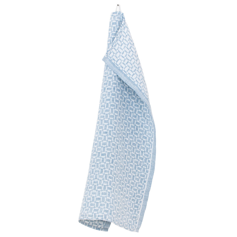 Lapuan Kankurit MAUSTE Tea Towel white-rainy blue