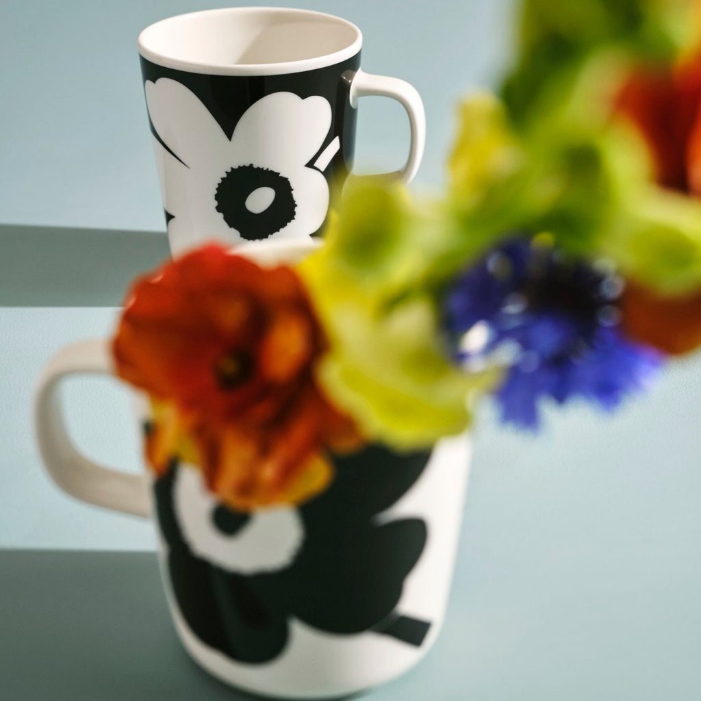 Marimekko JUHLA UNIKKO Mug Set black and white inspiration
