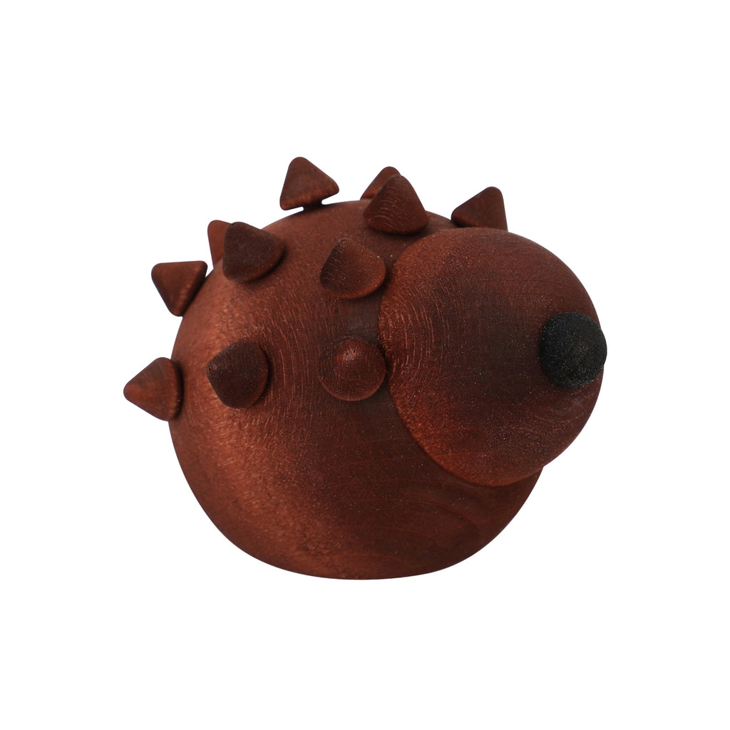 "Aarikka brown SIILI HEDGEHOG (2"" / 5 cm) side"