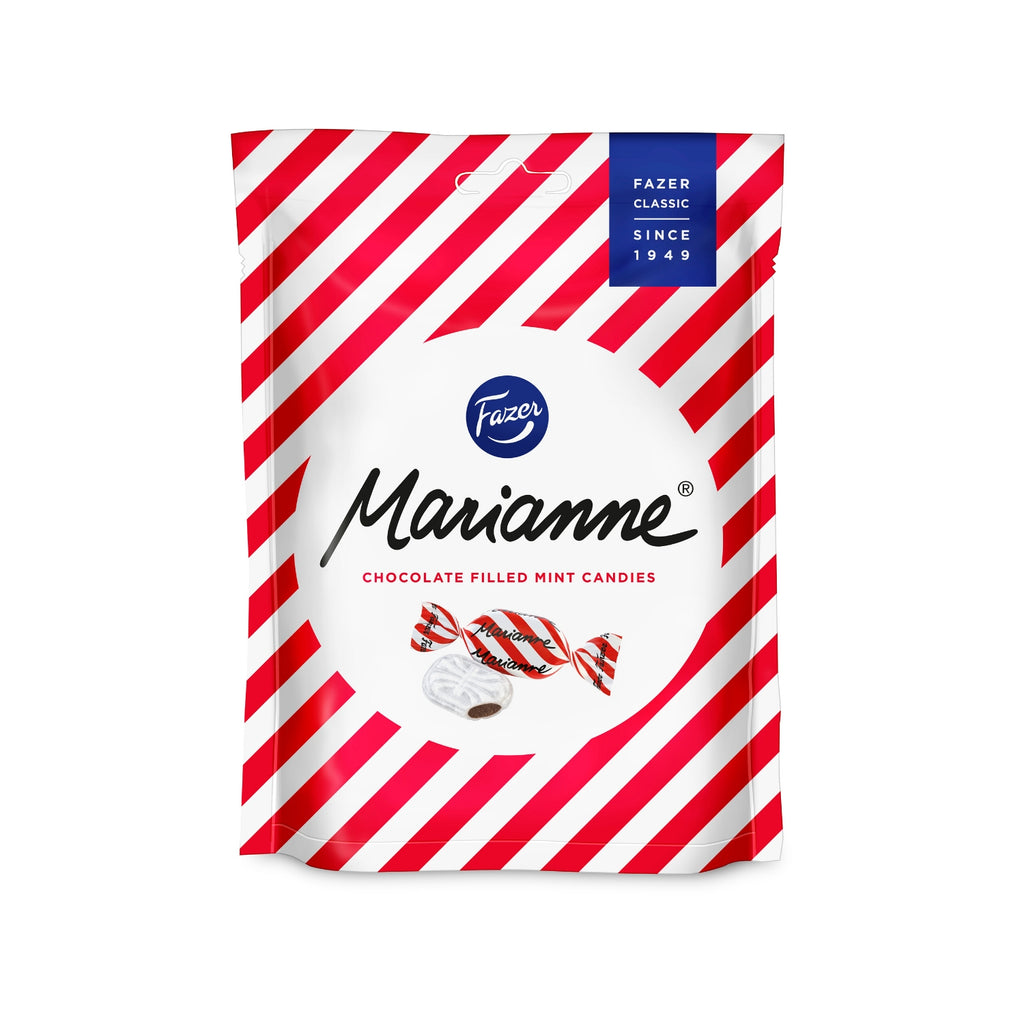 Fazer MARIANNE Peppermint Dark Chocolate filled Candy Bag