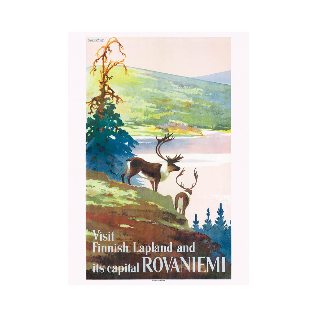 Come to Finland VISIT FINNISH LAPLAND vintage travel poster